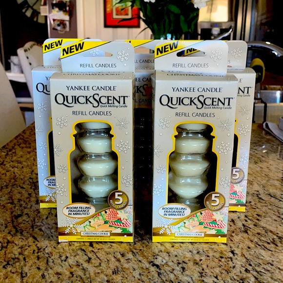 Set of 5 boxes of QuickScent Refill Candles